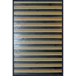 Gray Bamboo Area Rug (8' x 10')