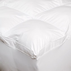 Luxury 300 Thread Count Baffle Box 2-inch Gusset Fiber Bed with Skirt