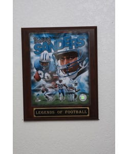 Barry Sanders Collectible Plaque