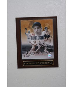 Joe Dimaggio Collectible Plaque