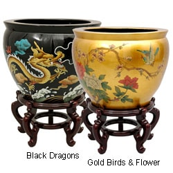 Lacquered Porcelain Fishbowl (China)