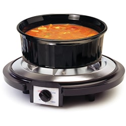 Single Coil Burner with Chrome-plated Drip Pan