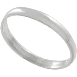 Journee Collection Sterling Silver Plain Ring