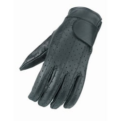 Vented Leather Gloves with Gel Palms