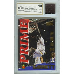 Kevin Garnett Mint 10 Rookie Card/ Game Jersey