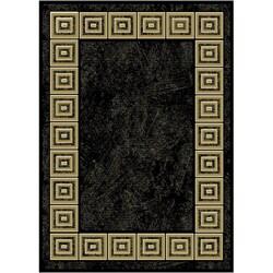 Renaissance Black Modern Rug (5'2 x 7'4)