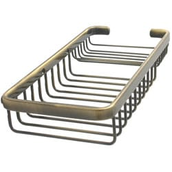 Rectangular Shower Basket with Soap Dish Insert
