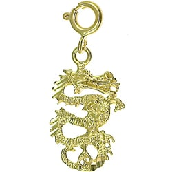 14k Yellow Gold Dragon Charm