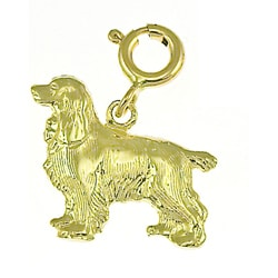 14k Yellow Gold Cocker Spaniel Charm