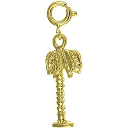 14k Yellow Gold Palm Tree Charm