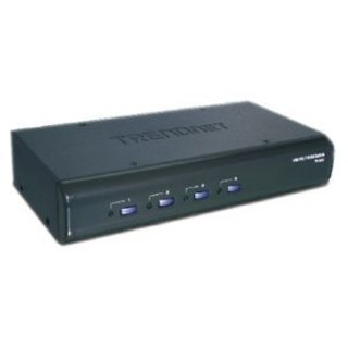 TRENDnet 4-port USB PS/2 KVM Switch Kit with Audio