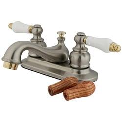 Satin Nickel Centerset Teapot Faucet 3769004