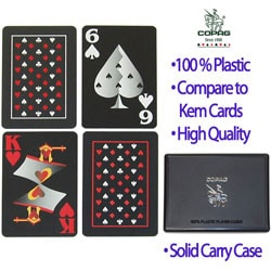 Copag Black Playing Cards (Two Decks)