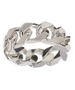 Sterling Essentials Silver Link Ring