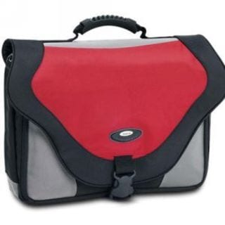 SOLO Classic Red/Black 17-inch Laptop Messenger Bag
