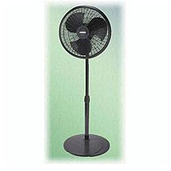 Lasko 2527 16-inch Black Adjustable Pedestal Fan