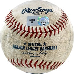 Diamondbacks at Dodgers Game-used Baseball 9/16/2008