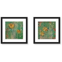 Maeve Harris 'Green Floral' Framed Art Print Set