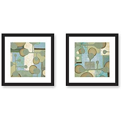 Sean Jacobs 'Moloko Green' Framed Art Print Set