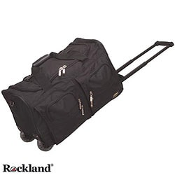 Rockland 22-inch Black Carry On Rolling Upright Duffel Bag