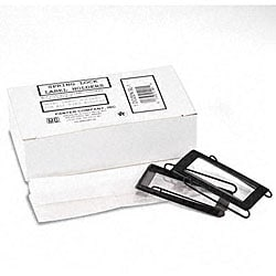 Spring-Lock 1-inch Metal Label Holders for Binders (Pack of 12)