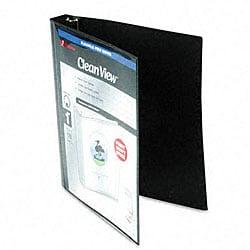 Print-Wont-Stick 1-Inch Black View-Tab Flexible Binder