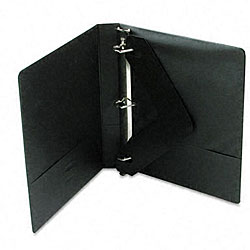 Wilson Jones One-Inch Black D-Ring Vinyl View Binder