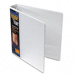 SpineVue 1.5-Inch Locking Ring White View Binder