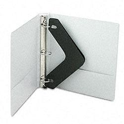 White Basic Plus 1.5-Inch Locking View Binder