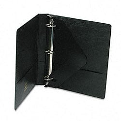 Black Heavy-Duty 1-Inch D-Ring Binder with Label Holder