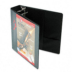 Recycled ClearVue 2-Inch EasyOpen D-Ring Presentation Binder in Black