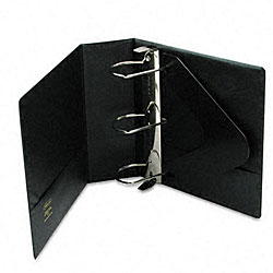 Heavy-Duty 4-inch D-Ring Binder with Label Holder