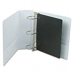 White ClearVue XtraValue 4-Inch D-Ring Presentation Binder