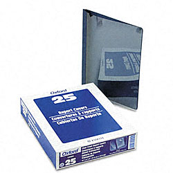 Clear Front Report Covers with Navy Blue Back Cover (25 per Box)