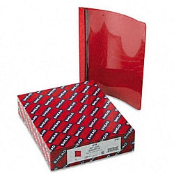 Smead Clear Front Report Cover with Red Back Cover (25 per Box)
