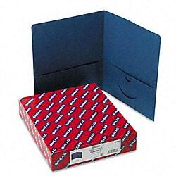 Smead Dark-Blue Recycled Two-Pocket Portfolios (25 per Box)