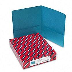 Smead Teal Recycled Two-Pocket Portfolios (25 per Box)