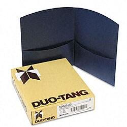 Contour Dark-Blue Two-Pocket Portfolios (25 per Box)