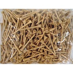 Natural 2.75-inch Tees (Pack of 1000)