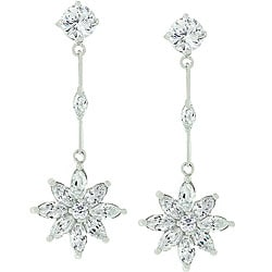 Kate Bissett Silvertone 'Once Upon a Star' CZ Earrings