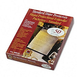 Clear Heavy Gauge Poly Sheet Protectors (50 per Box)