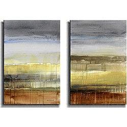Lanie Loreth 'Summer Rain' Canvas Art (Set of 2) 4129909