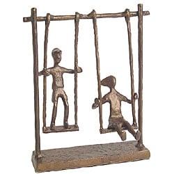 Children On Swings Cast Bronze Statue