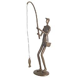 Fisherman Cast Bronze Statue