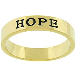 Kate Bissett Goldtone 'Hope' Ring