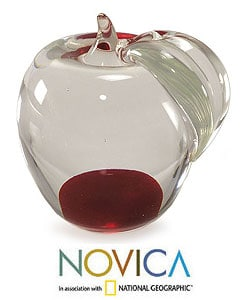 Murano 'Forbidden Fruit' Hand-blown Paperweight (Brazil)