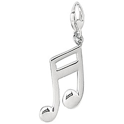 Sterling Silver Double Musical Note Charm