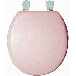 Trimmer Solid Soft Pink Toilet Seat