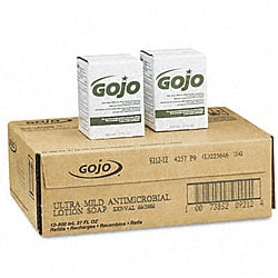 Go Jo Antimicrobial Lotion Soap Refills (Pack of 12)