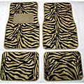 Front and Rear Tan Zebra Floor Mats